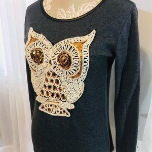 Grey Long Sleeve Owl Shirt